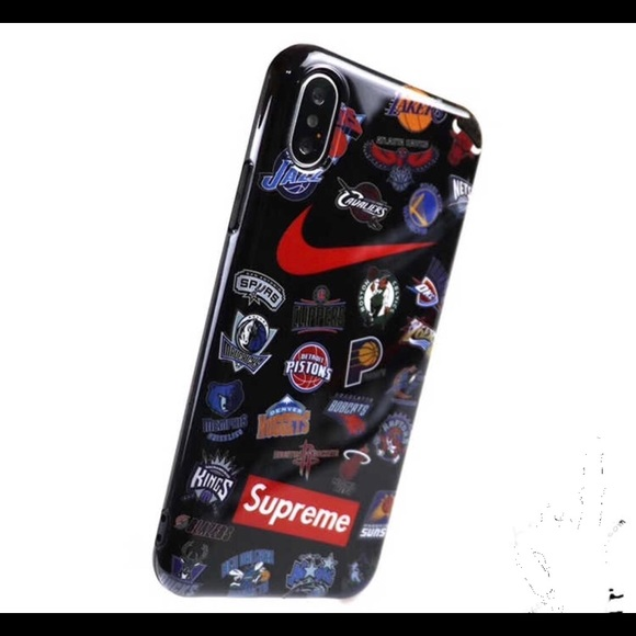 low cost eb9a6 c5663 New Supreme Iphone X phone case NBA Nike black